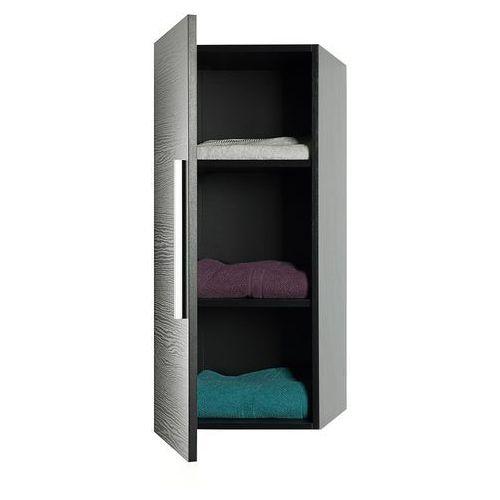 Meble łazienkowe - szafka wisząca łazienkowa czarna - bilbao marki Beliani