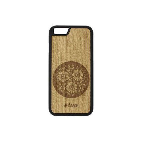 Apple iPhone 6 - etui na telefon Wood Case - dąb - kwiaty, ETAP138EWODDB004000
