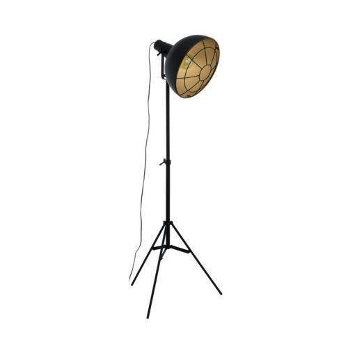 Lampa podłogowa Eglo Cannington 49674 1x60W E27 czarna/ złota (9002759496746)