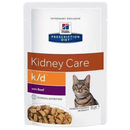 Hills prescription diet Hill's pd prescription diet feline k/d kidney care wołowina 12x85g - saszetka