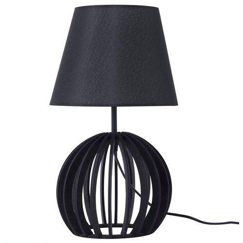 Beliani Lampa stołowa czarna samo