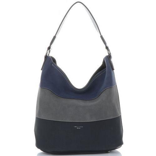 Oryginalne torebki damskie renomowanej marki multikolorowe czarne (kolory) marki David jones