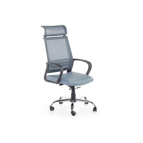 Krzesło biurowe niebieskoszare - fotel biurowy - obrotowy - siatka - leader marki Beliani