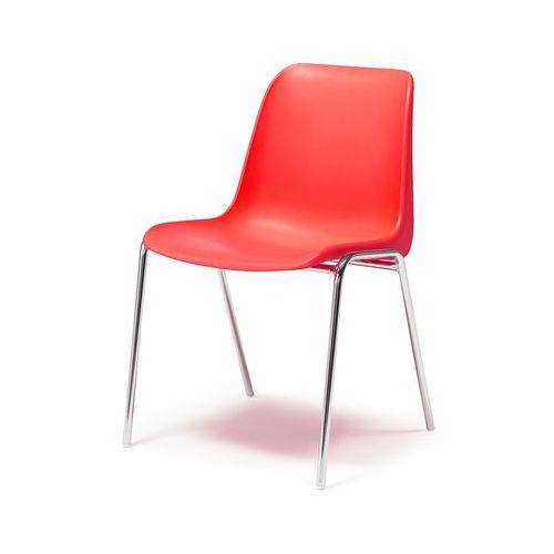 Krzesło plastikowe sierra czerwony marki Aj