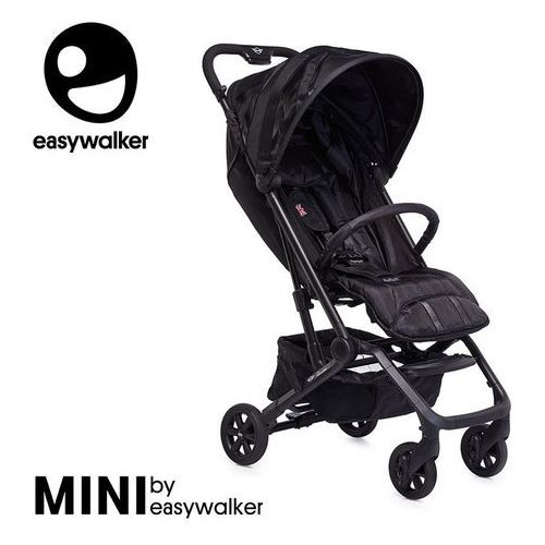 Mini by buggy xs wózek spacerowy z osłonką przeciwdeszczową lxry black marki Easywalker