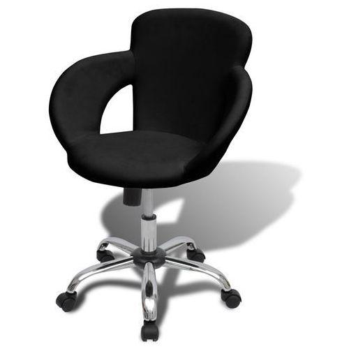 profesjonalne krzesło do salonu spa z podłokietnikami, czarne od producenta Vidaxl