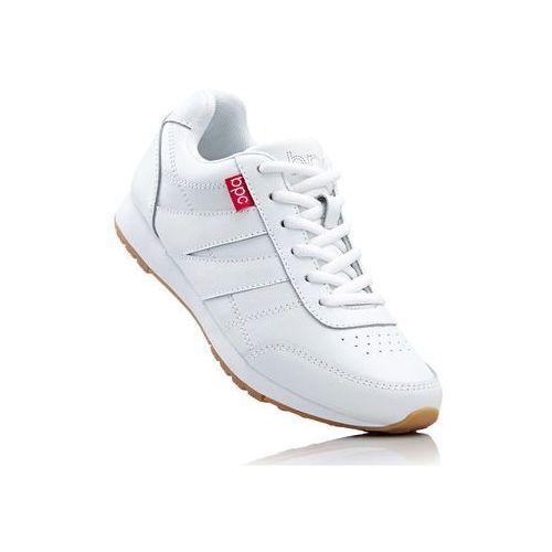 Skórzane buty sportowe bonprix biały, w 8 rozmiarach