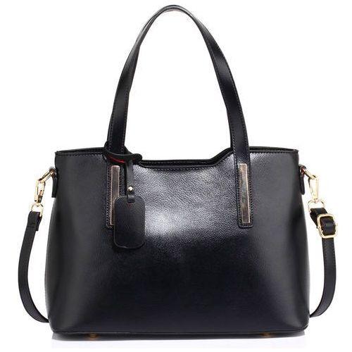 Wielka brytania Klasyczna torebka damska na ramię czarna - czarny