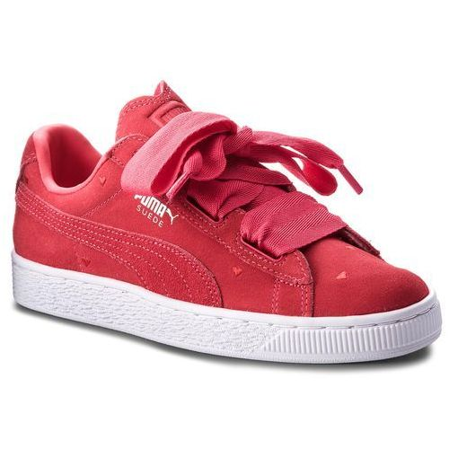 Sneakersy - suede heart valentine jr 365135 01 paradise pink/paradise pink marki Puma