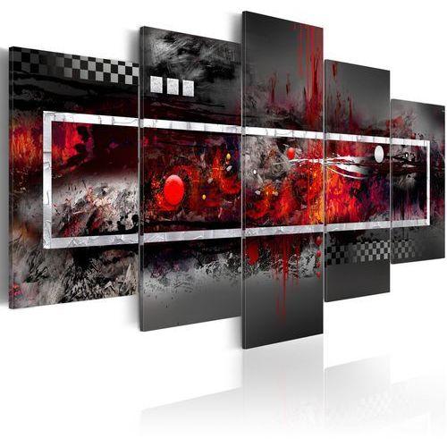 Artgeist Obraz - szara wizja z nutą czerwieni