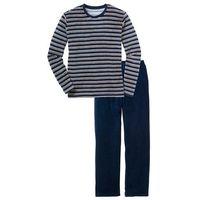 """Piżama """"Nicky"""" bonprix ciemnoniebieski w paski, kolor niebieski"""