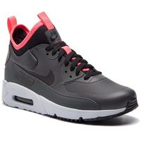 Nike Buty - air max 90 ultra mid winter 924458 003 anthracite/black/solar red