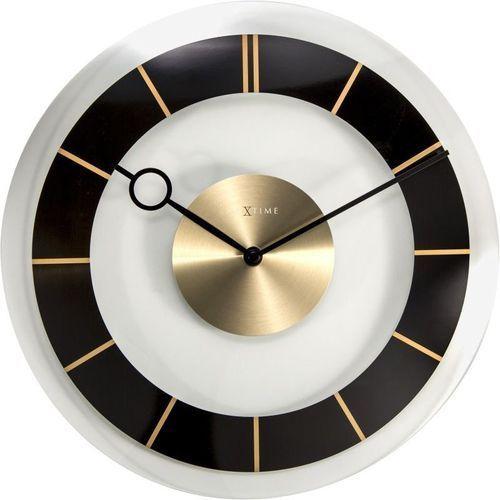 Nextime - zegar ścienny retro - czarny - 31 cm