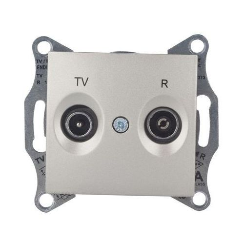 SEDNA Gniazdo antenowe R/TV (1dB) końcowe satyna SDN3301668 SCHNEIDER, SDN3301668/SCH