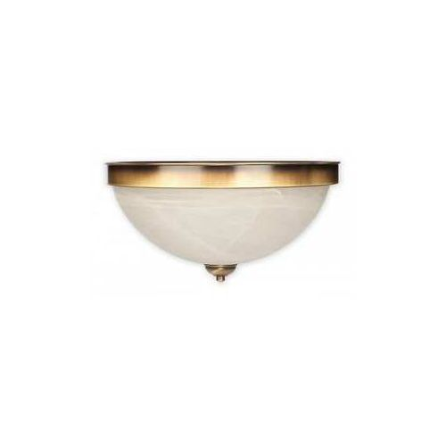 Lemir Sato O2081 P2 PAT plafon lampa sufitowa 2x60W E27 patyna / biały alabaster (5907626649666)
