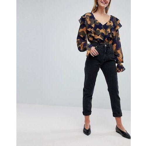 Monki Kimomo Mom Jeans - Black, jeansy
