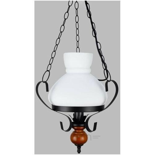 Rabalux Lampa wisząca petronel 1x60w e27 czarny mat/orzech 7076 (5998250370767)