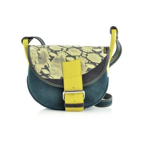 Freshman Mini torebka zielono-żółta, kolor zielony