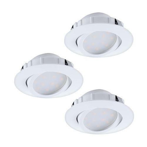 Oczko led Eglo Pineda 95857 oprawa do wbudowania 3x6W LED biały (9002759958572)