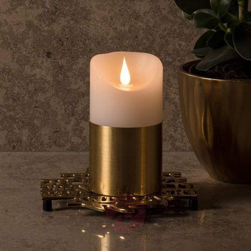 Konstsmide christmas Mosiężna opaska – świeca woskowa led 13,5 cm