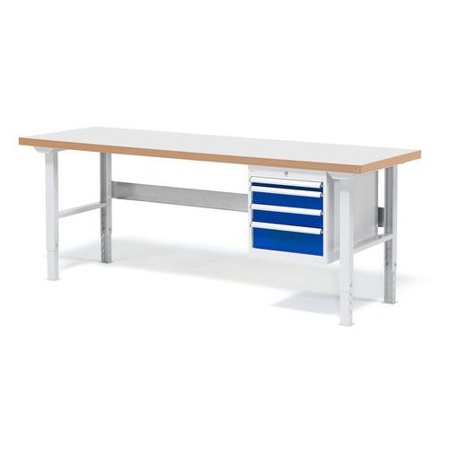 Aj produkty Stół warsztatowy solid, zestaw z 4 szufladami, 500 kg, 2000x800 mm, laminat
