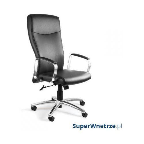 Fotel biurowy adella pu skóra ekologiczna czarny marki Unique