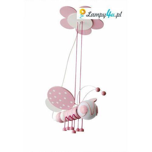 Lampa wisząca PSZCZÓŁKA 1xE27/60W/230V biała /różowa - produkt z kategorii- Oświetlenie dla dzieci