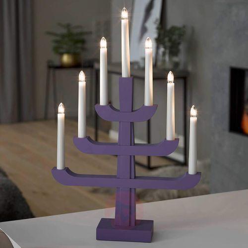 Konstmide christmas Świecznik charis, fioletowy (7318303586484)