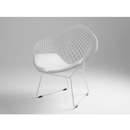 Customform Krzesło metalowe diament - biały, poducha biała