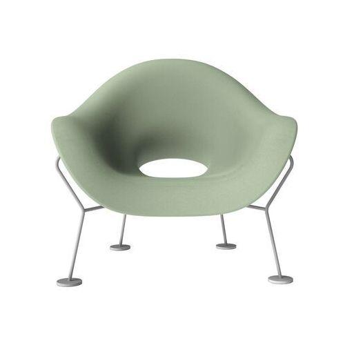 Qeeboo fotel pupa zielono-chromowany 60001ge-cr