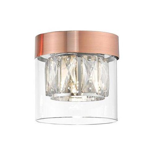Zuma Line Gem C0389-01A-L7AC Plafon lampa sufitowa 1x28W G9 miedziany/transparentny