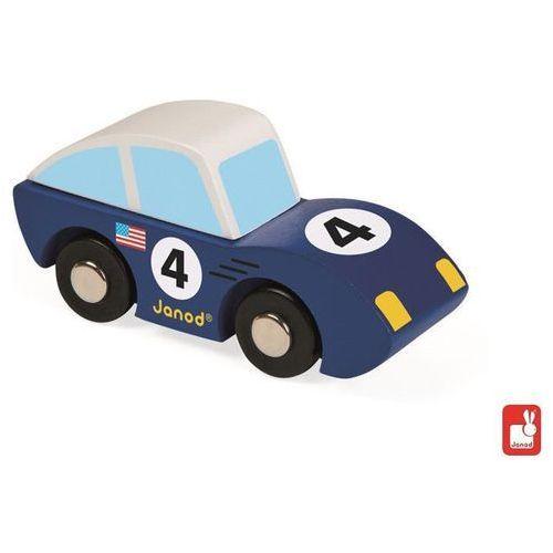 JANOD Wyścigówka drewniana Roadster,niebieska - Wyścigówka drewniana Roadster,niebieska