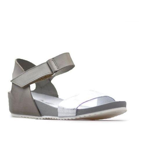 Sandały Lemar 40069 Szare+przecierane srebro