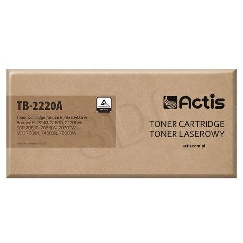 Toner tb-2220a czarny do drukarek brother (zamiennik brother tn-2220) [2.6k] marki Actis