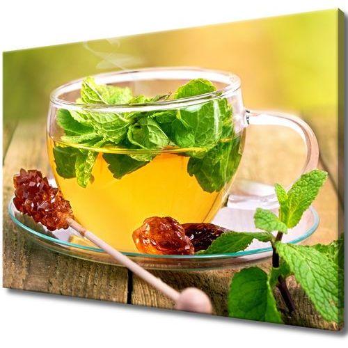 Obraz Tryptyk Herbatka miętowa cukier trzcinowy ar