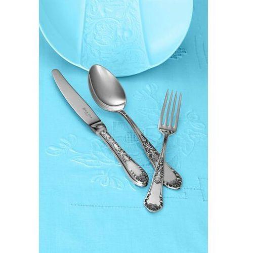 Hefra Sztućce Zestaw obiadowy dla 12 osób (81 sztućców). Wz.Romański posrebrzany.