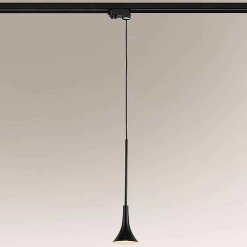 Lampa wisząca kanzaki 7960 metalowa oprawa loftowa led 4,5w 3000k zwis czarny marki Shilo