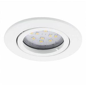 Eglo Oczko lampa sufitowa tedo 31682 podtynkowa oprawa metalowa okrągły wpust ip20 biały