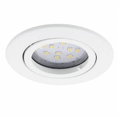 Oczko LAMPA sufitowa TEDO 31682 Eglo podtynkowa OPRAWA metalowa okrągły wpust IP20 biały