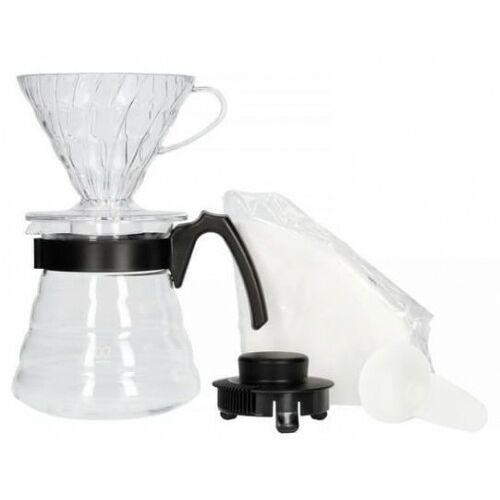Zestaw do parzenia kawy v60 (dripper + serwer + filtry) - hario marki Pizca del mundo (czekolady, kawy, yerba mate ft)