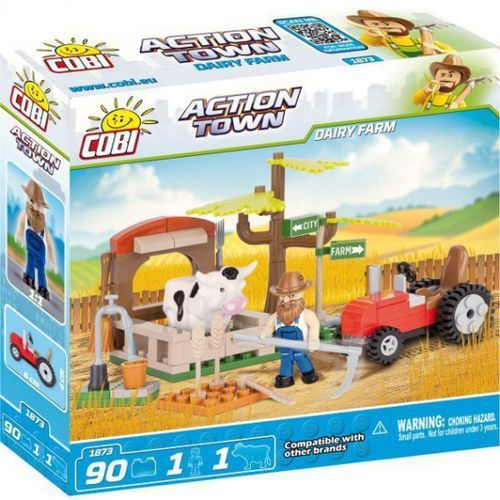 Cobi Klocki Action Town Farma, krowy 90 el.