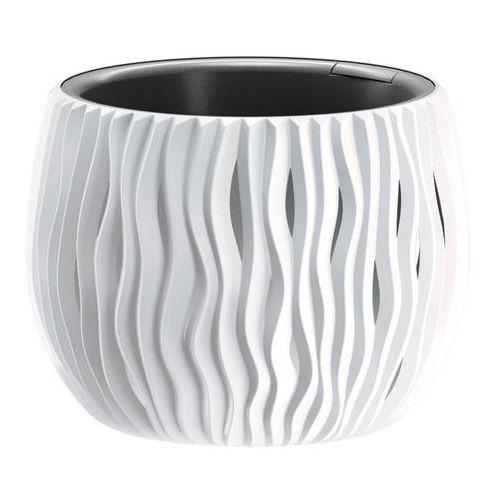 Doniczka sandy bowl z wkładem 18 cm biała marki Prosperplast