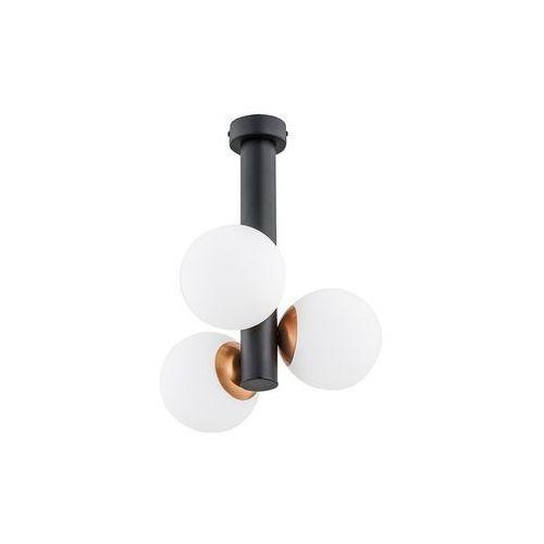 Lemir ente o2813 w3 cza plafon lampa sufitowa żyrandol 3x40w e14 czarny mat / miedź (5902082869184)