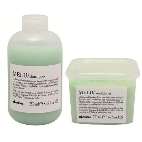 melu zestaw do włosów kruchych i łamliwych | szampon 250ml + odżywka 250ml marki Davines
