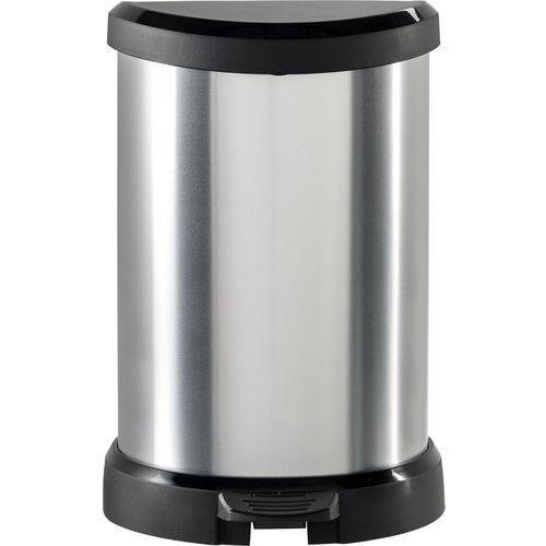 KOSZ NA ŚMIECI CURVER METALIZOWANY 20L - Czarny/Srebrny metalizowany, 120005_CURVER