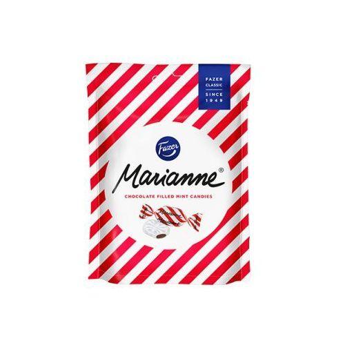 Fazer - marianne peppermint - czerwone - cukierki miętowe z wnętrzem czekoladowym - 220g - z finlandii (6410803642019)