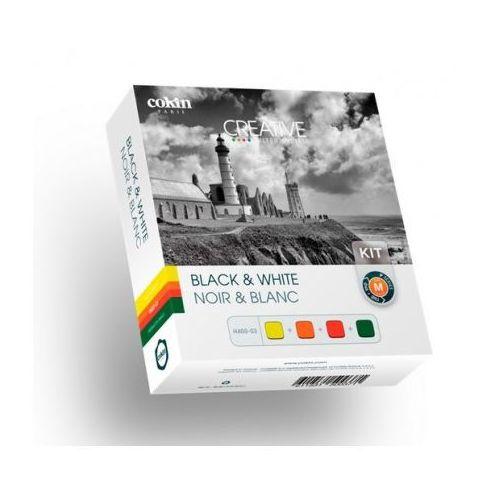 m zestaw czterech prostokątnych filtrów do fotografii czarno-białej marki Cokin