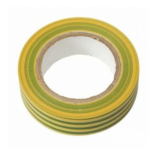 Taśma izolacyjna PVC 15mm 10m żółto-zielona E30-PVC1510YG Bemko 4307 (5908311364307)