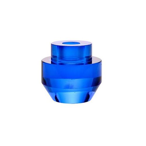 HK Living Świecznik ze szkła kryształowego kobaltowy AKA3337 (8718921023719)