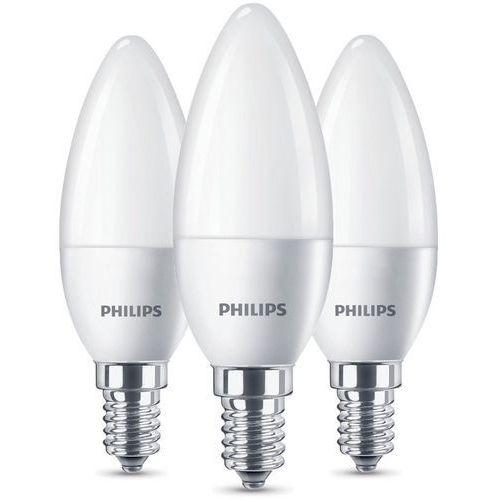Żarówka LED PHILIPS 40W B35 E14 Biały Ciepły (3-pak) (8718696761281)